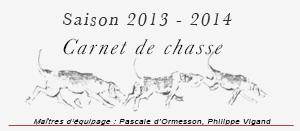 Saison de chasse 2013-2014