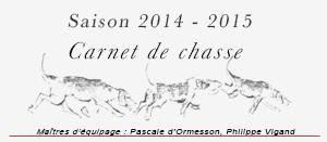 Saison de chasse 2014-2015