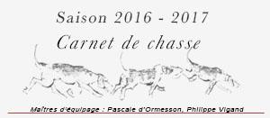 Saison de chasse 2016 - 2017